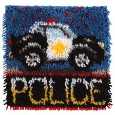 """Police Car"" | Latch hook kit | Caron"