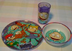 Rugrats bowl and plate