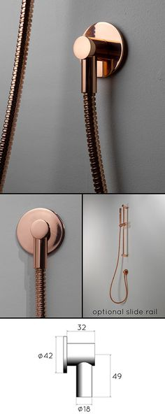 Suppliers of copper wall mounted handheld shower head as part of a luxury collection of exclusive copper bathroom taps. Bathroom Taps Uk, Copper Bathroom, Copper Wall, Copper And Brass, Copper Shower Head, Fixed Shower Head, Shower Fittings, Shower Fixtures, Wall Mounted Basins