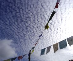Clouds and Prayer Flags