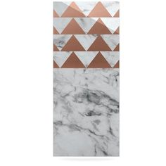 "KESS Original ""Marble & Metal"" White Copper Luxe Rectangle Panel"