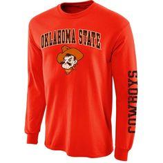 Oklahoma State Cowboys Big Arch N' Logo Long Sleeve T-Shirt – Orange