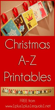 Christmas Alphabet Printable Set & eBook {free} from @{1plus1plus1} Carisa