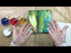 (18) ( 245 ) testing Vallejo fluid acrylics + floetrol - YouTube