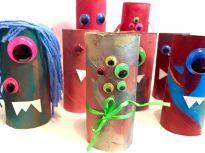 DIY med barn, lag monster av tomme doruller