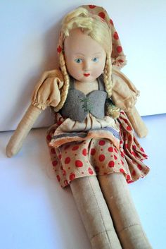 VINTAGE DOLL FROM POLAND,  BY ANISE  SPROUT. -  POLISH AND PROUD
