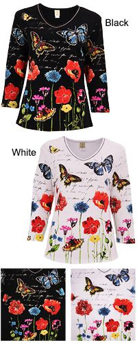 Rhinestone Butterfly Garden Top at The Veterans Site