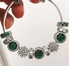 Green and silver #pandorajewelry