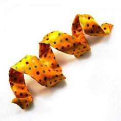 Opaska PIN Pomarańczowa w Grochy