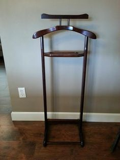 Vintage Wooden Valet Stand Butler Clothes Hanger Suit Rack Standing By Myhailieshaven On Etsy