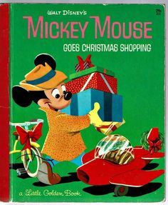 Vintage Little Golden Book ~ Walt Disney's MICKEY MOUSE GOES CHRISTMAS SHOPPING