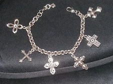 Brighton Faithful Cross Bracelet - Crystals and Silver - BEAUTIFUL Details!!
