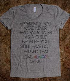 Love Always Wins LGBT Shirts