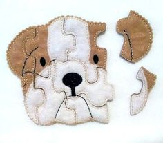 Dog Felt Puzzle perfect for party favors or busy bags