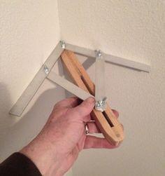 Increíble accesorio para utilizar cómo herramienta de medición y lograr cortes precisos tal cómo la falsa escuadra aplicable a varias actividades #woodworkingtools