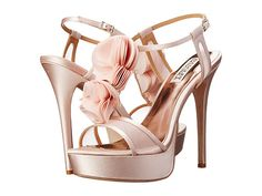 Badgley Mischka Flora Ivory - 6pm.com comes in light pink and ivory. This website has discounted name brand shoes