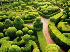 The famous Gardens of Marqueyssac make up one of the most stunning landscapes in France—and the world. The 150,000 bubbly boxwood trees and hedges wrap around a seventeenth-century chateau that overlooks the Dordogne valley. The entire vista looks like an illustration from a Perrault fairytale.