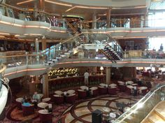 View of the centrum #royalcaribbean #enchantmentoftheseas