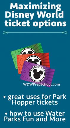 How to use Park Hopper and Water Parks Fun & More tickets