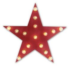 Marquee Light-Up Star, Red @ One Kings Lane $190