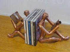 CopperMan, Copper CD DVD Book Ends.