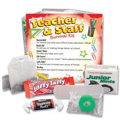 Recognize outstanding teachers and staff members with affordable teacher appreciation gifts from our distinctive collection for Teacher Appreciation Week and Teacher Appreciation Day. Shop at Positive Promotions today! Welcome Back Teacher, Back To School Teacher, Back To School Gifts, School Stuff, Survival Kit For Teachers, Teacher Survival, Survival Kits, Teacher Treats, Teacher Gifts