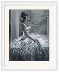 Hazel Bowman Ballerina Framed Art Print High Quality Drawing Dancer