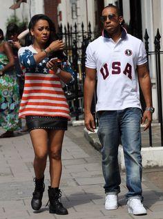 38e294d3cbe Ludacris and La La Vasquez Anthony - Photos - Stars n  stripes  Celebs  wearing their American pride
