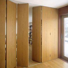 New Design Studio Apartment Sliding Doors Ideas Folding Partition, Folding Walls, Folding Doors, Wall Partition, Folding Door Hardware, Sliding Partition Doors, Indoor Sliding Doors, Movable Partition, Wooden Sliding Doors