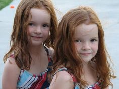 5 year old identical twins, Abby and Ally.