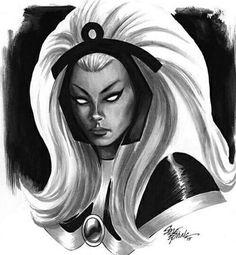 Ororo Munroe is Storm of the X-Men Comic Book Girl, Comic Book Artists, Comic Book Characters, Comic Character, Fantasy Characters, Comic Books, Storm Xmen, Storm Marvel, X Men