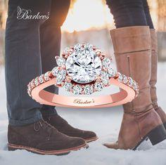Barkev's Rose Gold Engagement Ring - 7930LPW