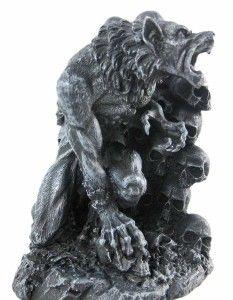 Snarling Werewolf Bookends