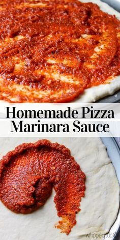 This homemade Pizza Marinara Sauce is the bomb! Don't let pizza marinara sauce intimidate you, I promise, it is super, super easy to make. Side Recipes, Pizza Recipes, Keto Recipes, Perfect Pizza, Good Pizza, Pizza Craft, Making Homemade Pizza, Italian Spices, Frozen Pizza