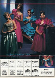 prom dress - nineteeneighties: Loralie ad from Seventeen Magazine, March 1987 1980s Dresses, Prom Dresses, Ball Dresses, Short Dresses, 1980s Prom, 80s And 90s Fashion, 1987 Fashion, Fashion Women, Vintage Outfits