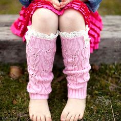 Baby Leggings Solid Lace Trim Gaiters Boots Leg Warmers