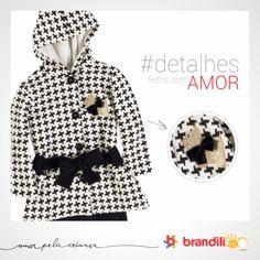 Detalhe de conjunto para menina com estampa geométrica. Estilo e conforto no inverno 2014 das crianças #lookbrandili