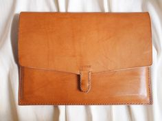 Personalized 11 Macbook Air Case - Leather - Hand Stitched