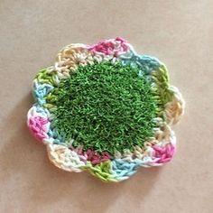 A cute little pattern to make this Flower Scrubby.
