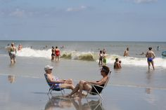 Jacksonville Beach, beach chairs in surf Jacksonville Beach, September 2, Us Beaches, Beach Chairs, Amazing Photography, Surfing, Florida, American, Deck Chairs