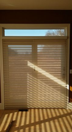 Window Shadings on a sliding glass door. You can see that there are two separate door panels on this patio door and when the shades are in the closed p... - Bellagio Window Fashions - Google+