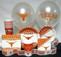 Texas Longhorns Party Supplies Sons Birthday 15th Ideas College Parties