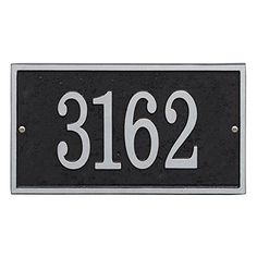Personalized Cast Metal Rectangle House Number Custom Address Plaque Sign  BlackSilver <3 This is an Amazon Associate's Pin. Clicking on the VISIT button will lead you to find the item on Amazon website.