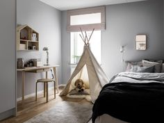Tipitält, barnrum, tält i barnrum, Granit Dream Catcher Bedroom, Kids Bedroom, Decoration, Sweet Home, Ceiling Lights, House Styles, Home Decor, Cage, Content