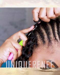 Human Hair Crochet Braids, Curly Crochet Hair Styles, Crochet Braid Styles, Crochet Braids Hairstyles, African Braids Hairstyles, Toddler Braided Hairstyles, Loose Hairstyles, Protective Hairstyles, Hair Twist Styles