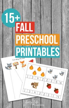 My daughter loved tracing worksheets. Get into the fall spirit with these fun Fall Preschool Printables to practice counting, tracing, patterning and fine motor skills and more.
