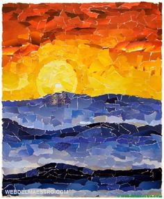 Cool/Warm Collages Cool and Warm Colors by Clarissa Gregory Collage Kunst, Paper Collage Art, Art Collages, Collage Collage, Color Collage, Collage Design, Color Art, Collage Landscape, Arte Van Gogh