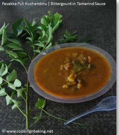 Pavakka Puli Kuzhambhu | Bitter Gourd in Tamarind Sauce