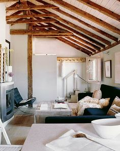 Exposed beams are my not-so-new favorite thing.