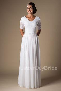 'Leonora' modest wedding gown, modest dress, modest bride